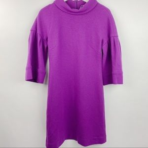 Per Se purple lined warm bell sleeve dress